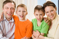 Happy Parents With  Children Together Royalty Free Stock Photos - 14165178