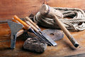 Vintage Woodworking Tools Royalty Free Stock Image - 14166846