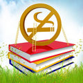 Books About How To Quit Smoking Royalty Free Stock Photography - 14170257
