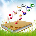 Golb Book About Musical Symphony Notes Royalty Free Stock Image - 14171386