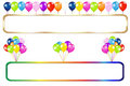 Frame With Balloons Bunches. Vector Royalty Free Stock Images - 14176719