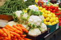 Close Up Of Vegetables On Market Stand Stock Image - 14176901