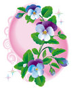 Fantasy_pansy_flowers_blue Royalty Free Stock Photo - 14184555