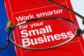 Focus On Banking With Small Business Stock Image - 14189891