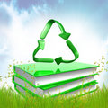 Green Books About Recycle Stock Photos - 14196463