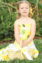Cute Little Flower Girl Stock Image - 14238601