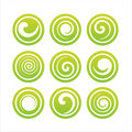 Set Of 9 Swirl Signs Royalty Free Stock Photos - 14240728