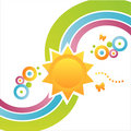 Colorful Sun Background Royalty Free Stock Images - 14240729