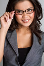Woman Wearing Glasses Royalty Free Stock Photography - 14264557