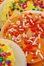 Yellow And Orange Sugar Cookies Royalty Free Stock Photography - 14286077