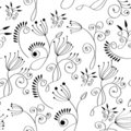 Monochrome Floral Background Royalty Free Stock Photos - 14296528
