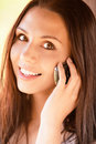 Young Girl Speaks By Phone Stock Photo - 14300000