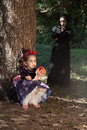 Stepmother Gives Poisoned Apple To Snow White Stock Image - 14302481