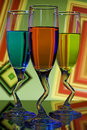 Colorful Glasses Of Liqueur Royalty Free Stock Photos - 14312738