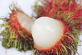 Tropical Fruit Rambutan Isolated Stock Photos - 14313433