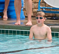 Boy In A Pool Ready To Swim Stock Images - 14326154