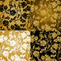 Gold Floral Seamless Royalty Free Stock Image - 14330326