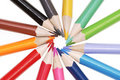 Colored Pencils Arranged In Star Shape Royalty Free Stock Photos - 14353198