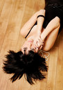 Girl Laying On A Floor Royalty Free Stock Images - 14368609