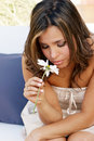 Lonely  Girl With A Flower Stock Images - 14374624