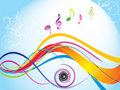 Abstract Colorful Wave With Sound Royalty Free Stock Photos - 14389908