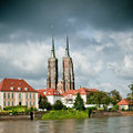 Twin Towers Of The Cathedral In Wroclaw Stock Image - 14421331
