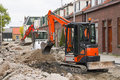 Breaking Up The Street To Renew The Sewerage Stock Image - 14426581