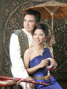 Thai Man And Woman In Silk Dress Stock Image - 14428651