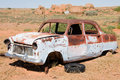 Old Wrecked Car In Outback Australia Stock Image - 14446531