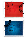 World Map Stamps Royalty Free Stock Images - 14449689