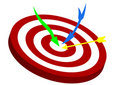 Illustration Of A Red Target With Arrows Stock Image - 14471211