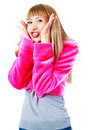 Girl Making Faces Royalty Free Stock Photography - 14474767