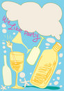 We Like Party Cartoon Design Has Copy Space Royalty Free Stock Photo - 14475815