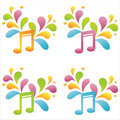 Set Of 4 Musical Notes Stock Image - 14487541
