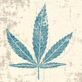 Marijuana Leaf In Grunge Royalty Free Stock Photo - 14492985