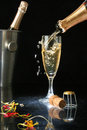 Pouring A Champagne Flute Royalty Free Stock Photos - 1456648