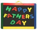 Happy Father S Day On Chalkboard Royalty Free Stock Photo - 14509105
