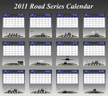 2011 Road Series Calendar Royalty Free Stock Images - 14521419