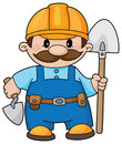 Builder With A Shovel Royalty Free Stock Photo - 14526855