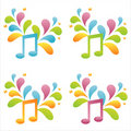 Set Of 4 Musical Notes Stock Photo - 14540280