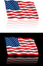American Flag Flowing Royalty Free Stock Photos - 14553808