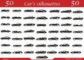 50 Cars Silhouettes Royalty Free Stock Images - 14557889