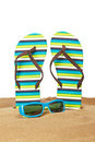 Flipflops On The Sand Stock Photography - 14558392