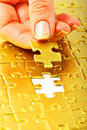 Gold Puzzle Stock Images - 14558514