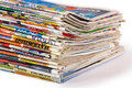 A Pile Of Newspapers Isolated Stock Images - 14574154