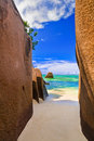 Beach Source D Argent At Seychelles Royalty Free Stock Photography - 14583267