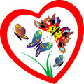 Butterfly In Heart Royalty Free Stock Photography - 14583307