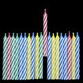 Birthday Candles Royalty Free Stock Image - 14584496