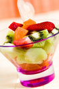 Fruit Salad With Kiwi,strawberry,papaya Royalty Free Stock Photos - 14591588