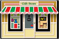 Local Gift Store Illustration Stock Image - 14592681